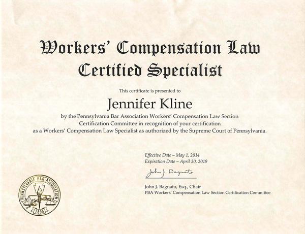 JenniferKline_WCCertificate