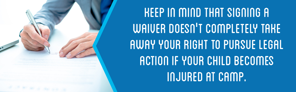 Signing a waiver doesn't completely take away your option to pursue legal action