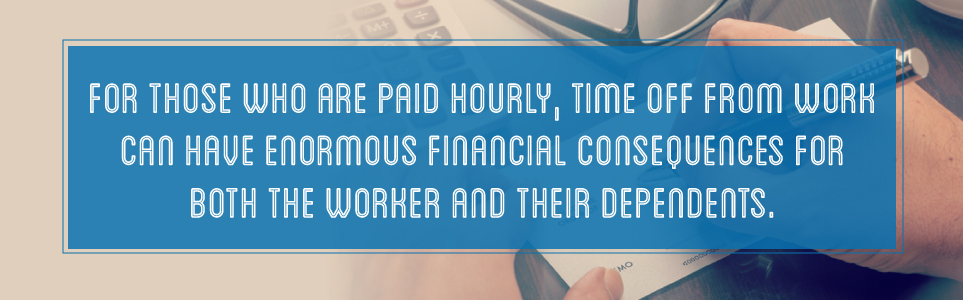 Financial consequences for hourly workers