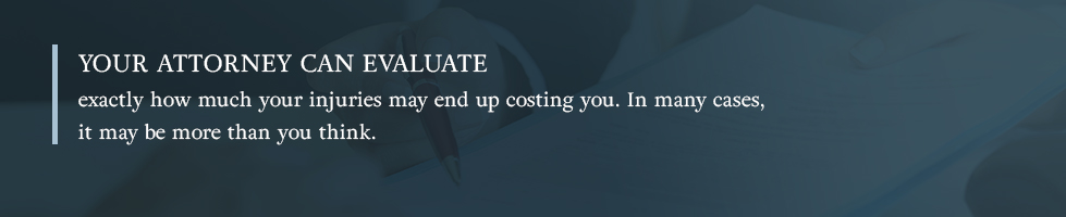 Evaluation of costs by an attorney.