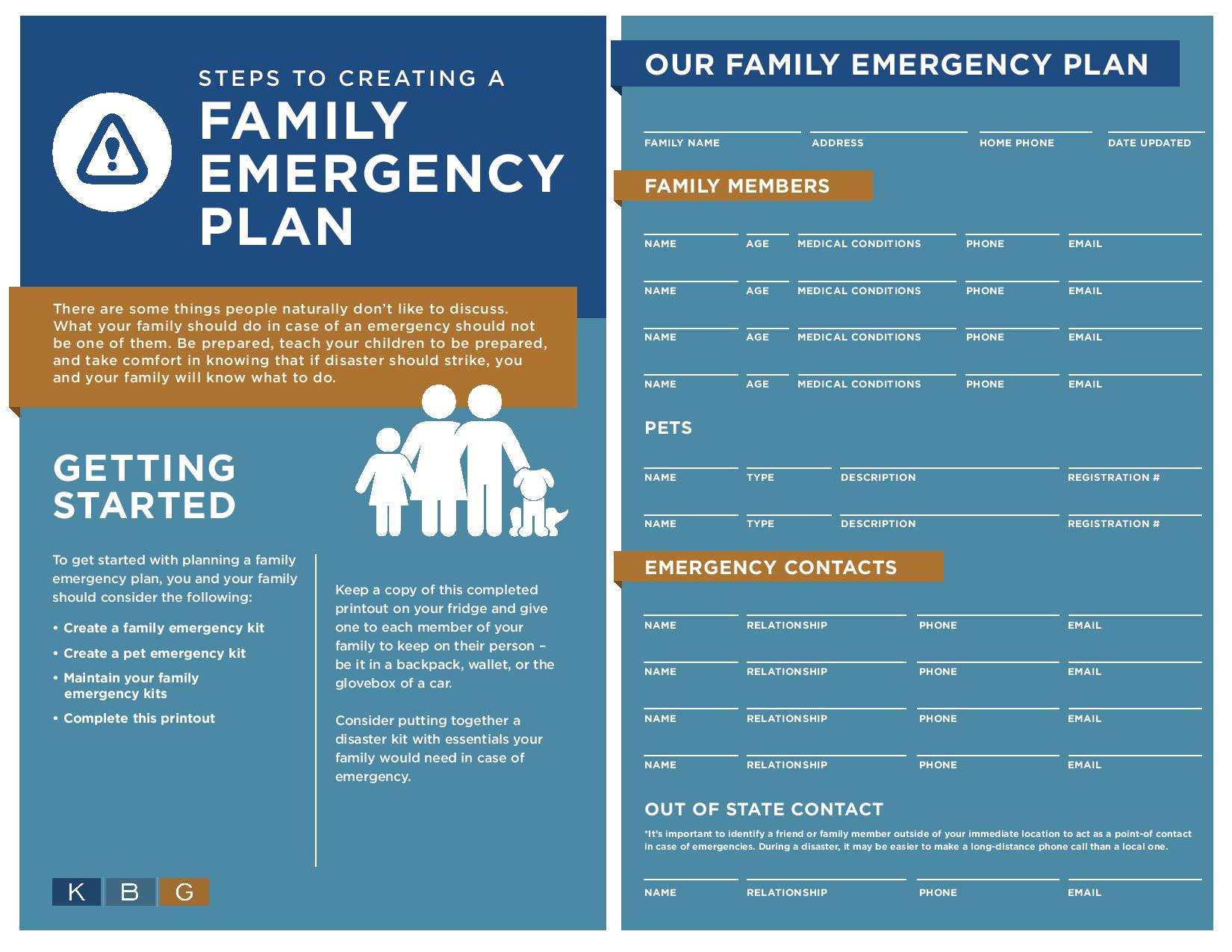 steps to creating a family emergency plan kbg injury law