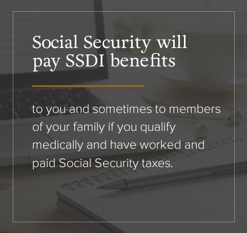 SSDI benefits payout