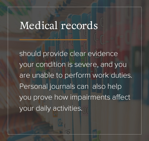 Medical records should provide clear evidence.