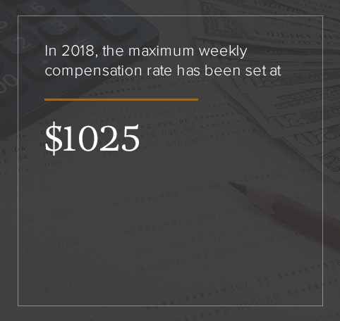The 2018 maximum weekly compensation rate is $1,025.