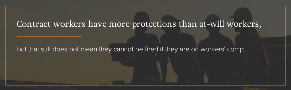 Contract workers have more protectiosn than at-will workers.