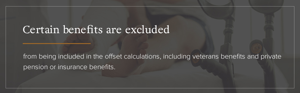 Certain benefits are excluded from the offset calculations.