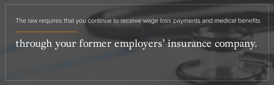 The law requires that you continue to receive wage loss payments and medical benefits.