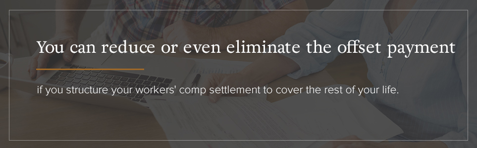 Reduce or eliminate the offset payment based on the structure of your workers' comp settlement.