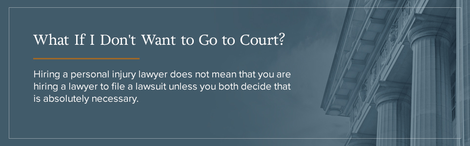 What if I don't want to go to court?