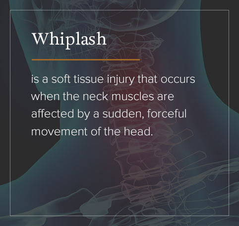 Whiplash is caused by sudden, forceful movement of the head.