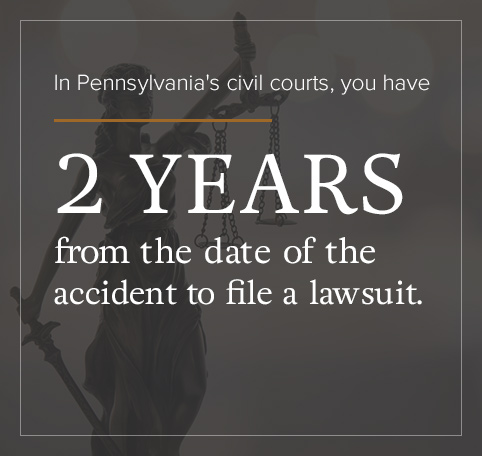 You have 2 years from the accident to file a lawsuit.