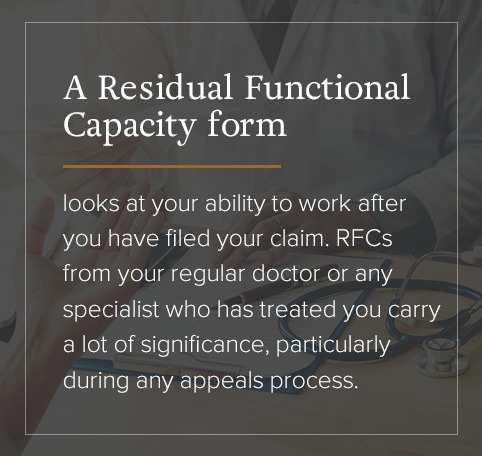 a residual functional capacity form