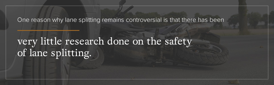 Very little research has been done on the safety of lane splitting.