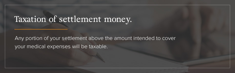 Taxation of settlement money.