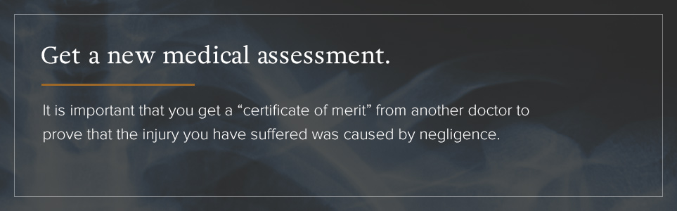 getting a new medical assessment
