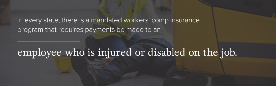 Every state has a mandated workers' comp insurance program.
