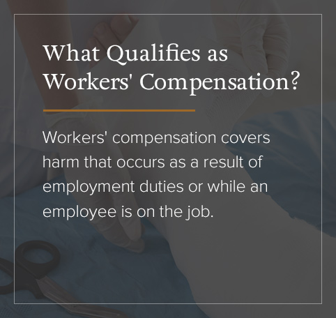 What qualifies as workers' compensation?