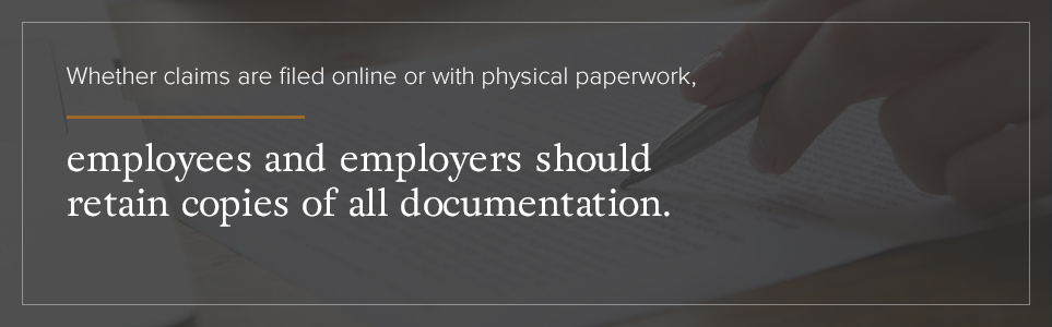 Employees and employers should retain copies of all documentation
