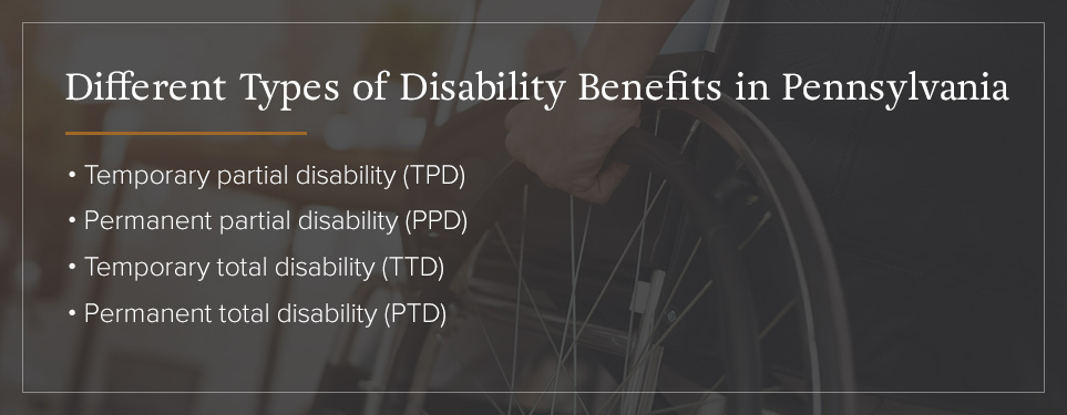 The Types of Disability Benefits in PA