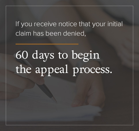 You have 60 days to being the appeal process.