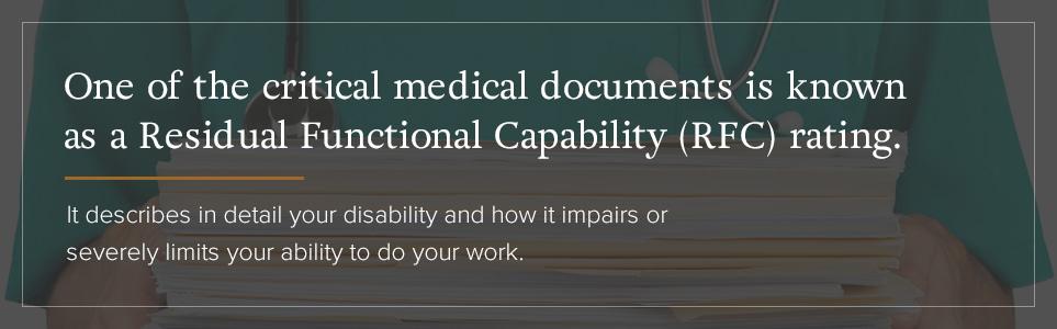 Residual Functional Capacity (RFC) Rating