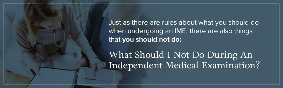 What should I avoid doing in an IME?