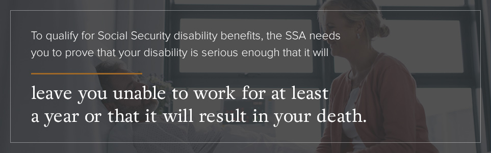 Seriousness of disability