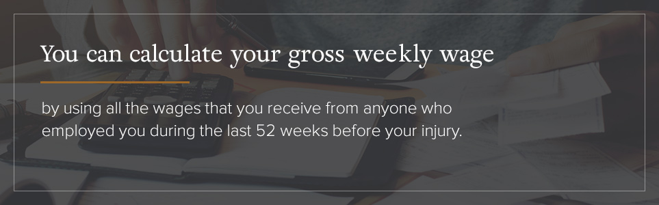 Calculating your gross weekly wage