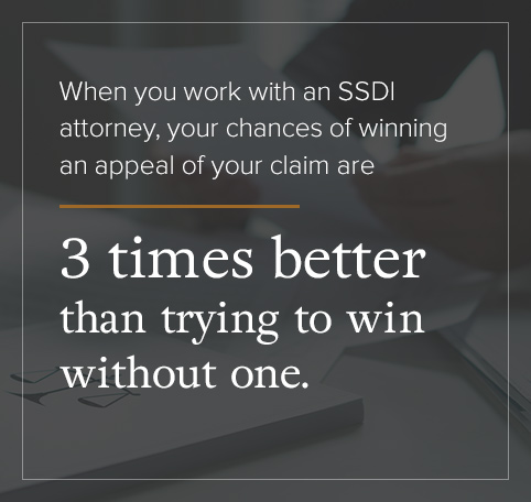 A SSDI attorney improves your changes of winning an appeal.