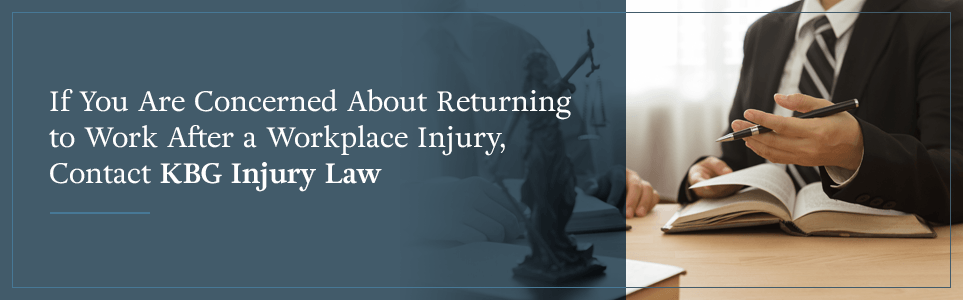 When Do I Return to Work? | Workers' Compensation | KBG