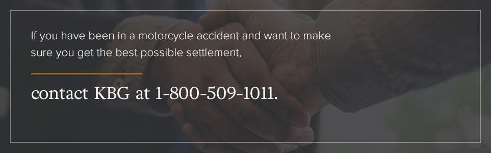 Contact KBG Injury Law if you've been injured in a motorcycle accident.