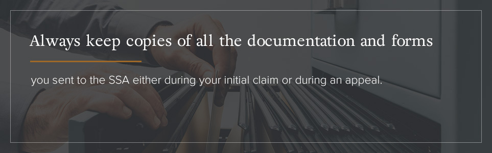 Always Keep Copies of Documentation and Forms