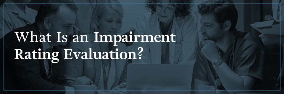 What is an impairment rating evaluation (IRE)?