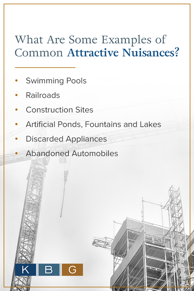 Examples of Common Attractive Nuisances [list]