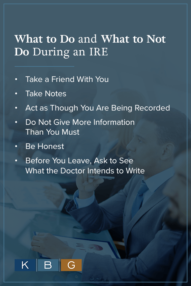 What to Do & What Not to Do During an IRE
