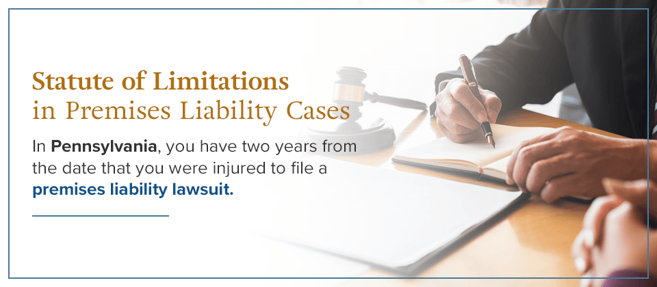 Statue of Limitations in Premises Liability Cases