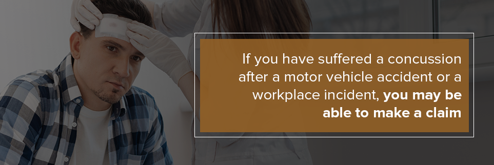 If you suffered a concussion after an accident, you may be able to make a claim.