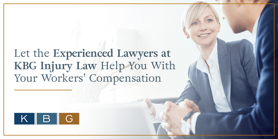 Let the experienced workers' comp attorneys at KBG Injury Law help you.