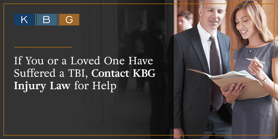 If you or a loved one have suffered a TBI, contact KBG Injury Law for help.