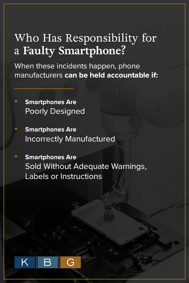 Who has responsibility for a faulty smartphone?
