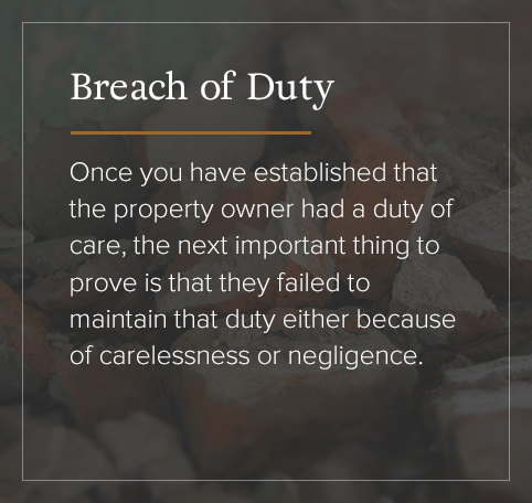 Breach of Duty defined