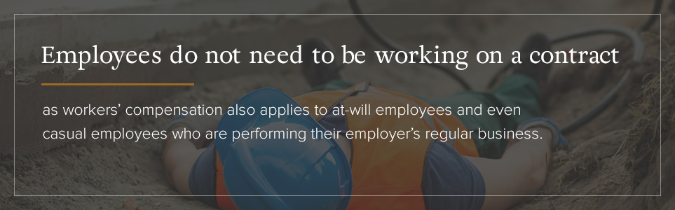 Employees do not need to be working on a contract.