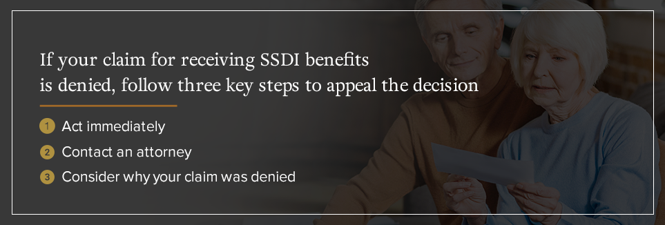 Follow these three steps to appeal denied SSDI benefits [list]