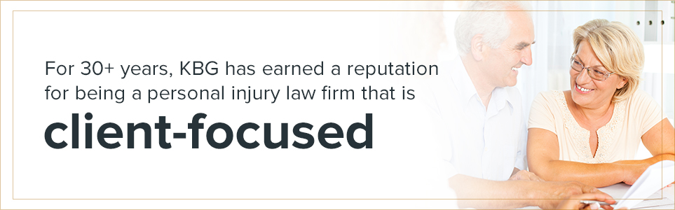for over 30 years, KBG has earned a reputation for being a personal injury law firm that is client-focused