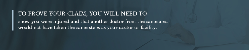 What you'll need to prove your medical malpractice claim
