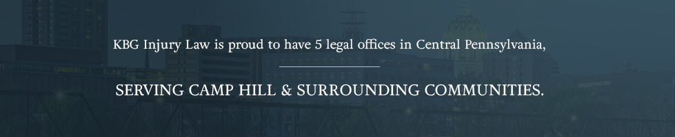 KBG Injury Law is proud to have 5 legal offices in Central Pennsylvania, serving Camp Hill & surrounding communities.