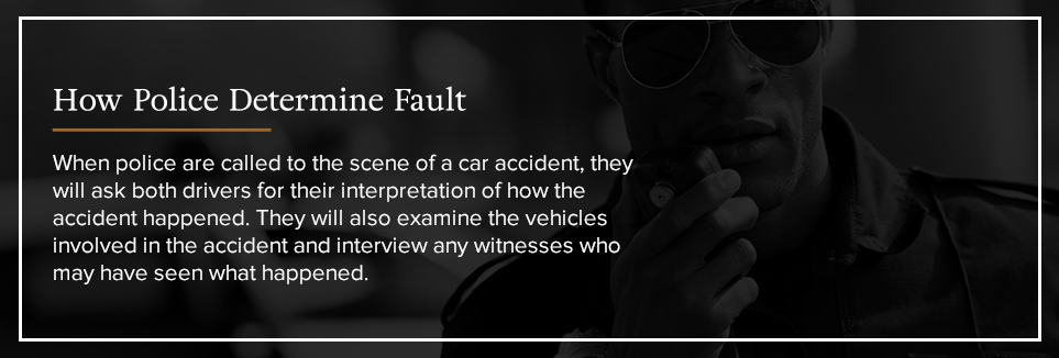 How Police Determine Fault