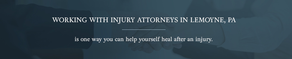 Working with injury attorneys in Lemoyne, PA is one way you can help yourself heal after an injury.