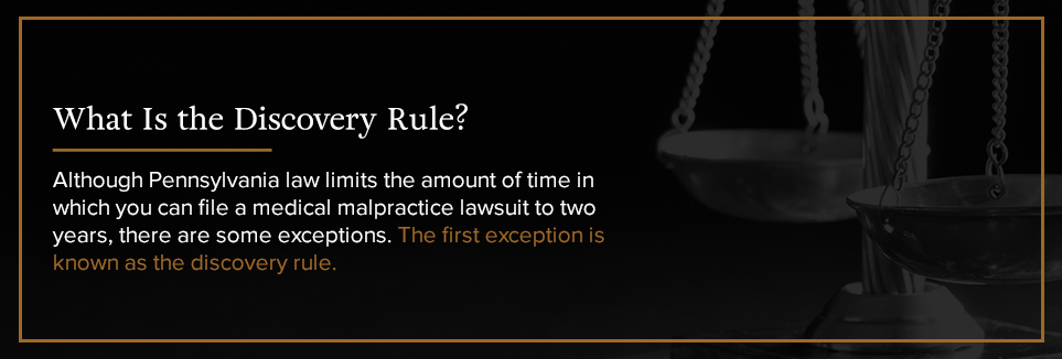 What is the Discovery Rule?