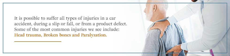 Most common injuries from accidents